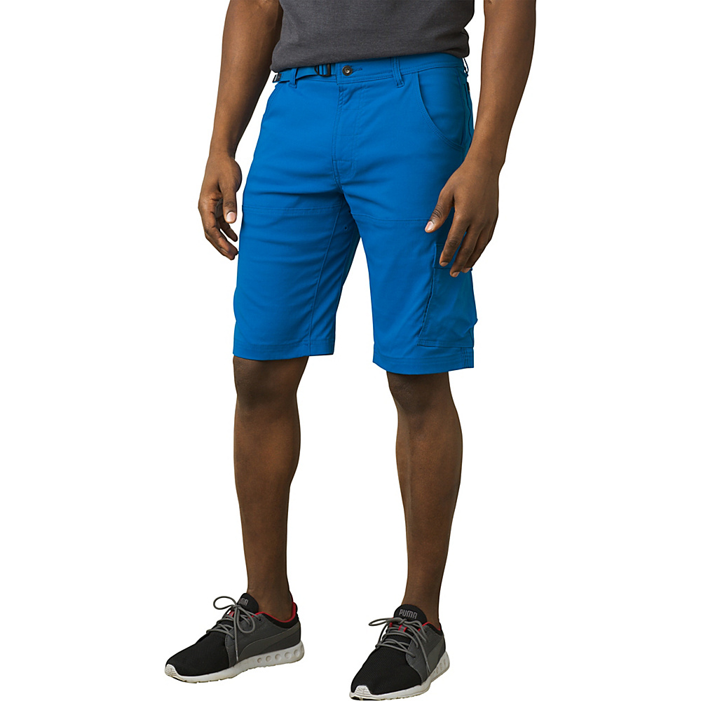 PrAna Stretch Zion Short - 10 Inseam 35 - 10in - Vortex Blue - PrAna Mens Apparel - Apparel & Footwear, Men's Apparel