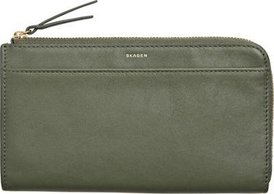 Skagen Leather Phone Wallet Agave - Skagen Electronic Cases