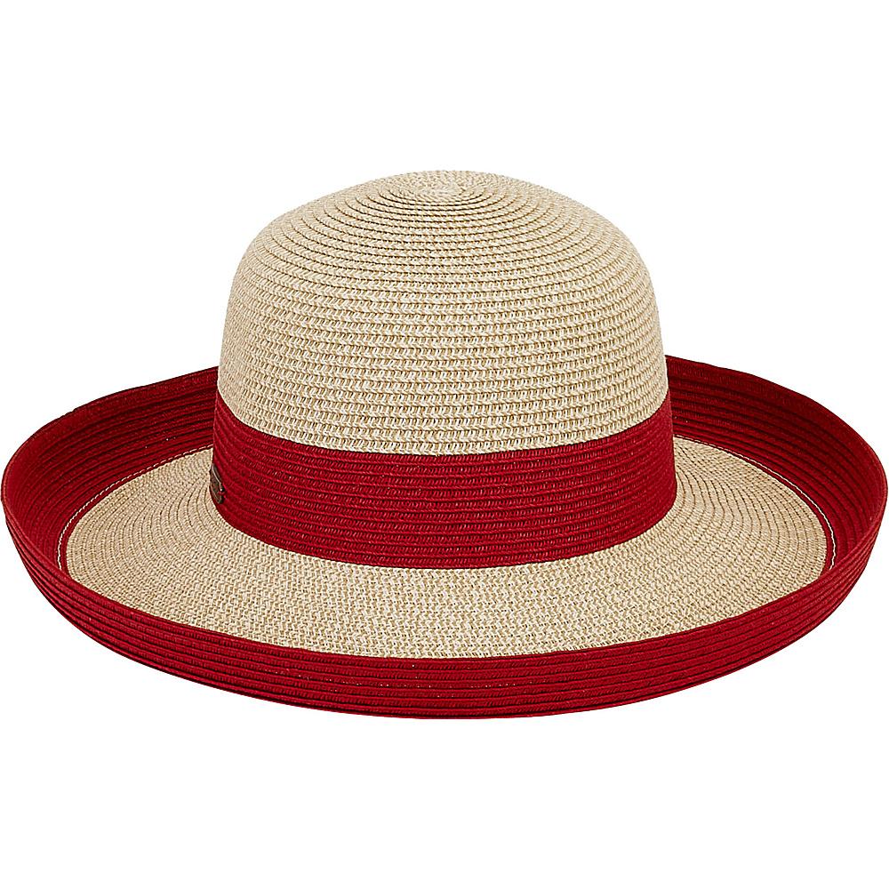 Sun N Sand Paper Braid Hat Red - Sun N Sand Hats - Fashion Accessories, Hats