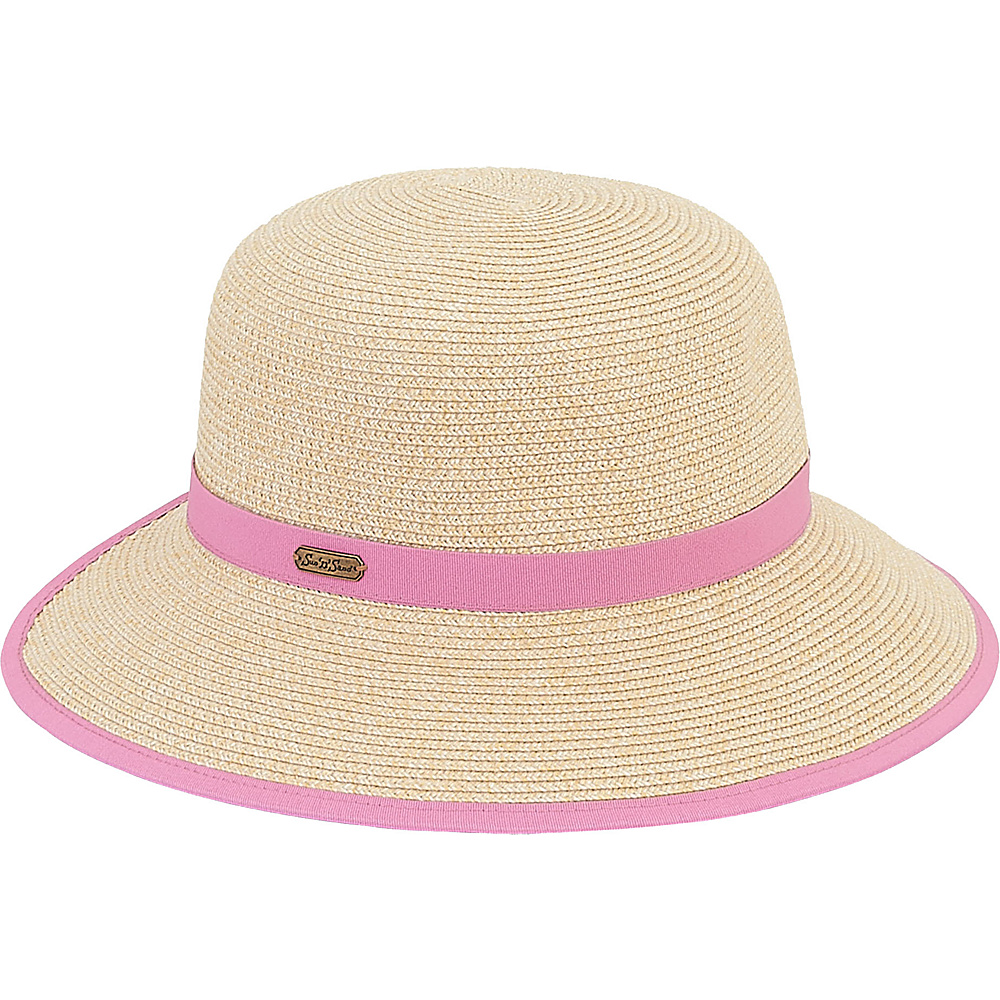 Sun N Sand Backless Hat D-Light Coral - Sun N Sand Hats - Fashion Accessories, Hats