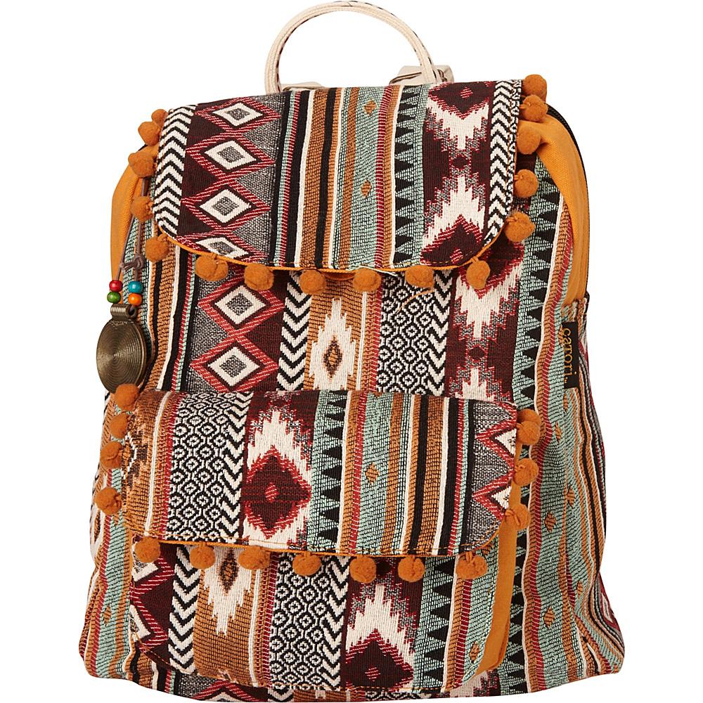 Sun N Sand Anu Backpack Red Multi - Sun N Sand Fabric Handbags - Handbags, Fabric Handbags