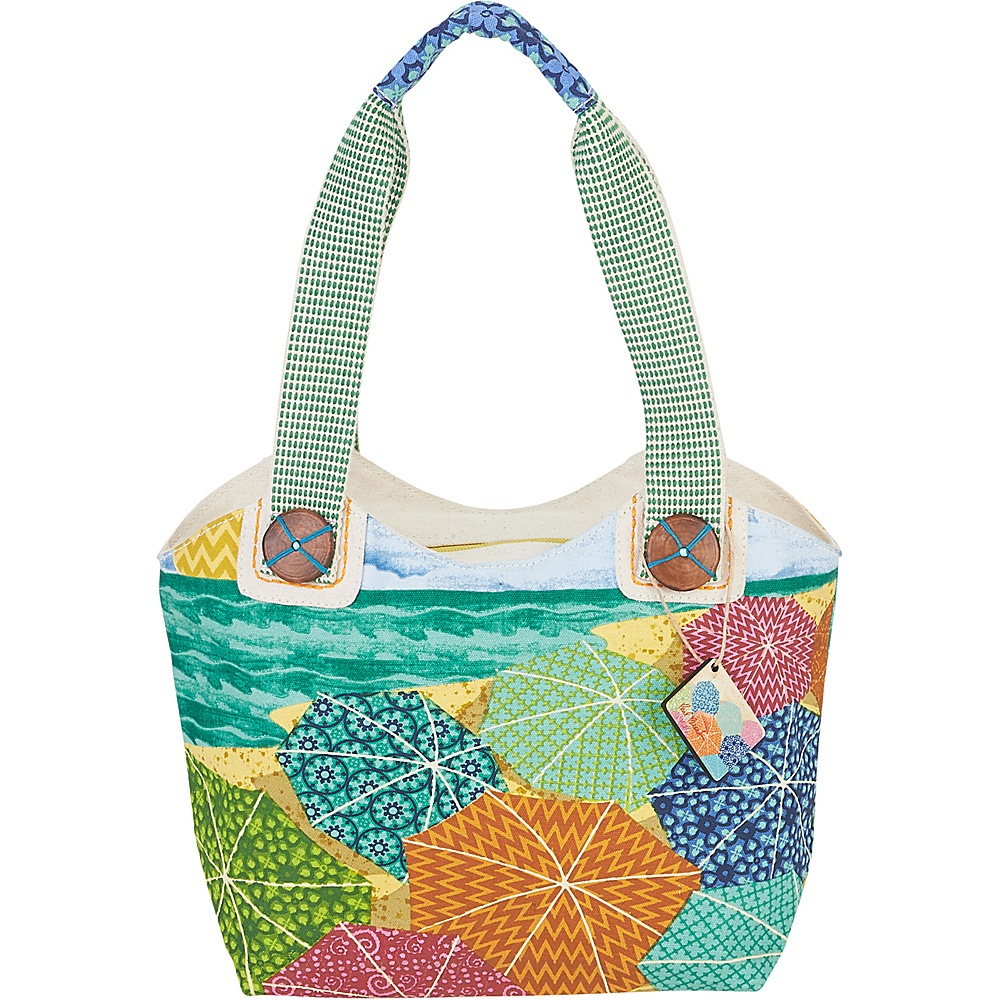 Sun N Sand Paul Brent Artistic Canvas Tote Sunnyside - Sun N Sand Fabric Handbags - Handbags, Fabric Handbags