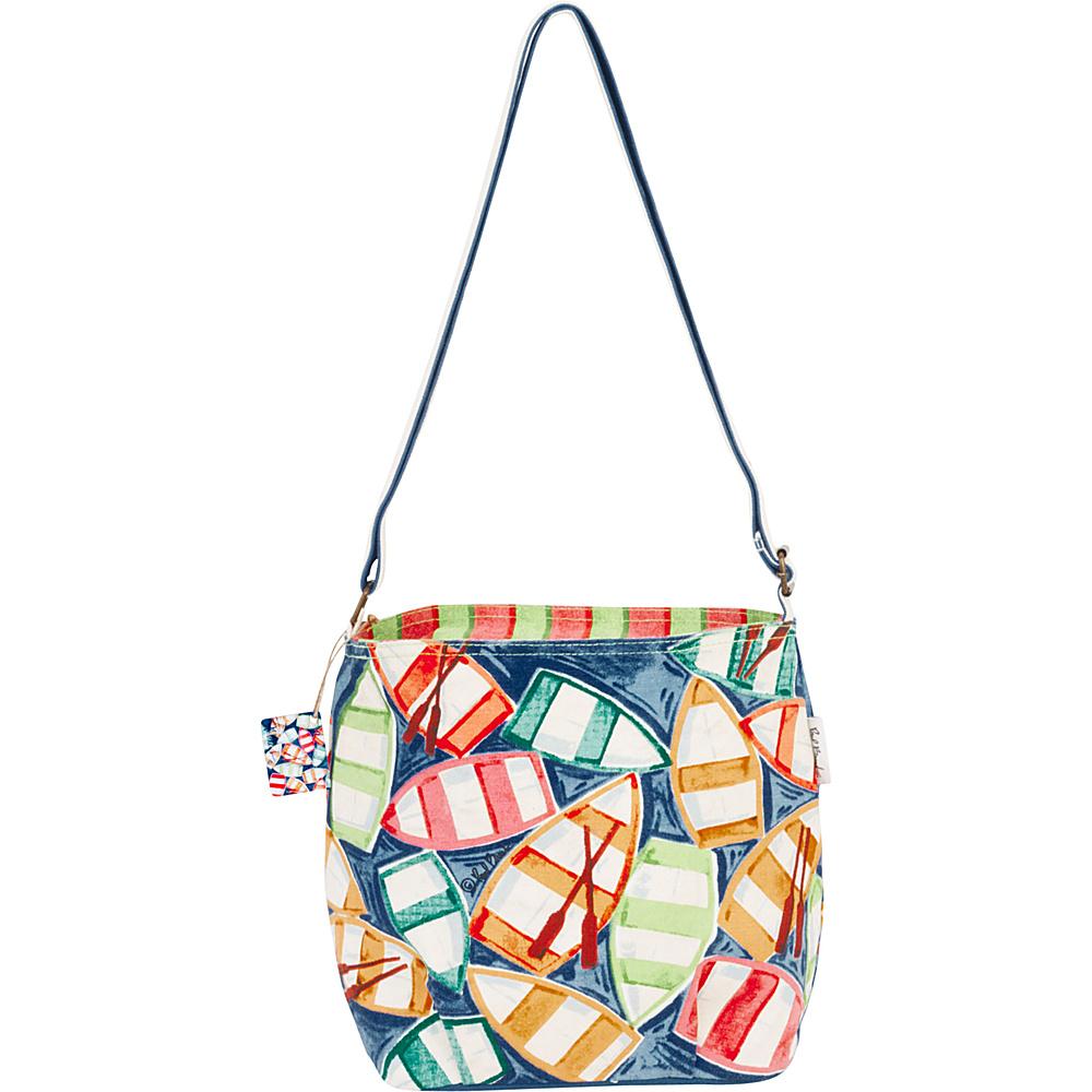 Sun N Sand Paul Brent Artistic Canvas Crossbody Rowboat Reelection - Sun N Sand Fabric Handbags - Handbags, Fabric Handbags