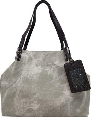 Bueno Stone Washed Tote Dove Grey - Bueno Manmade Handbags