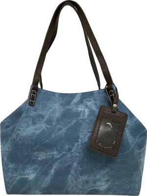 Bueno Stone Washed Tote Chambray - Bueno Manmade Handbags
