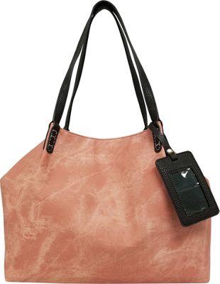 Bueno Stone Washed Tote Rose - Bueno Manmade Handbags
