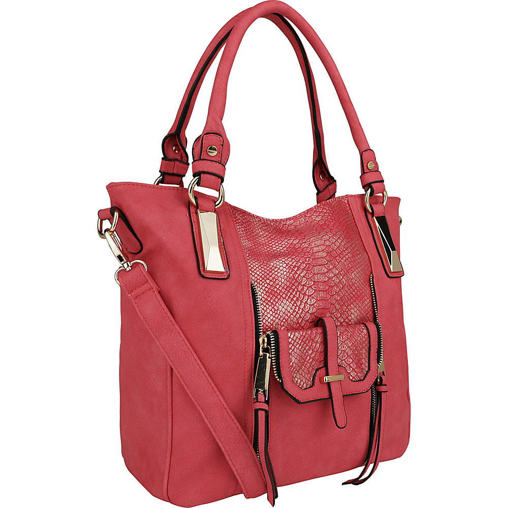 MKF Collection by Mia K. Farrow CharliePython Leather Shoulder Bag Red - MKF Collection by Mia K. Farrow Manmade Handbags - Handbags, Manmade Handbags