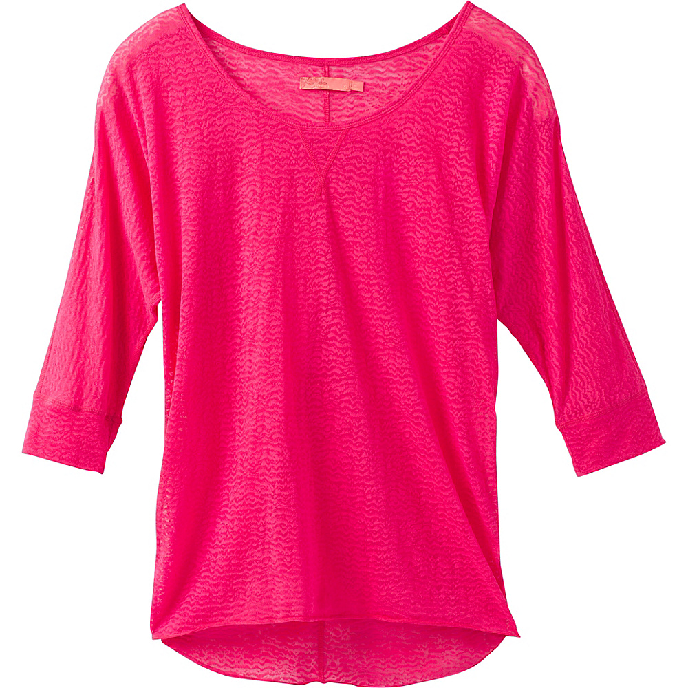 PrAna Tranquil Top L - Cosmo Pink - PrAna Womens Apparel - Apparel & Footwear, Women's Apparel