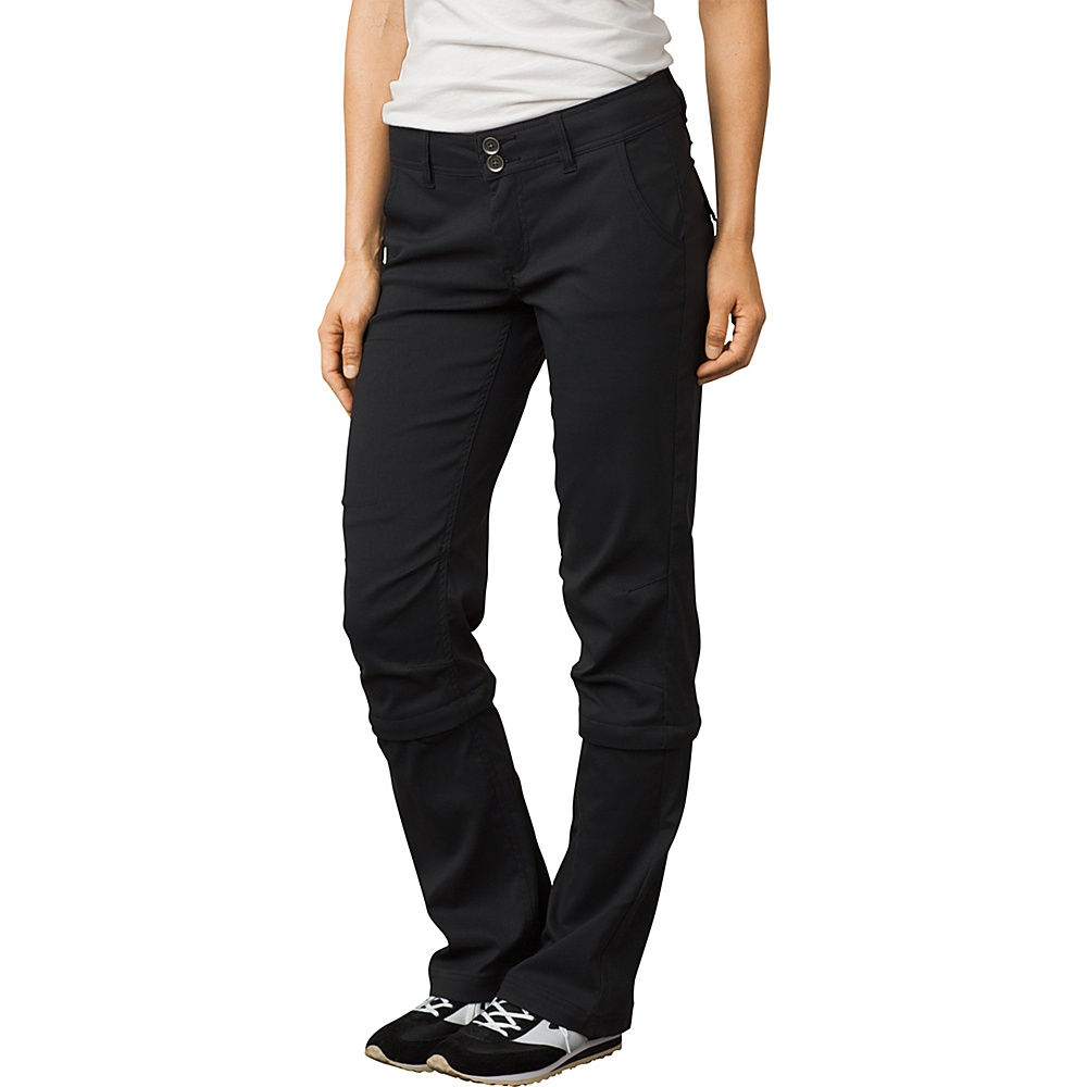 PrAna Halle Convertible Pant - Regular Inseam 4 - Black - PrAna Womens Apparel - Apparel & Footwear, Women's Apparel
