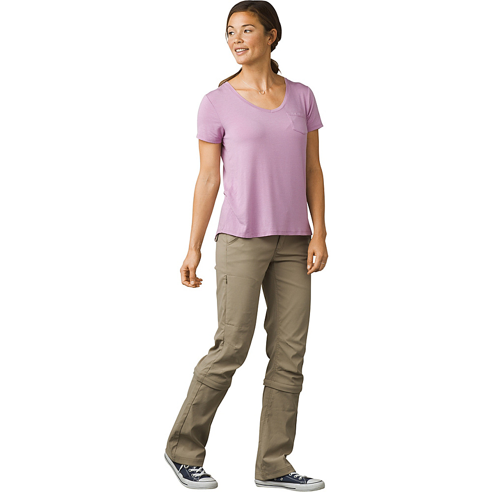 PrAna Halle Convertible Pant - Regular Inseam 4 - Dark Khaki - PrAna Womens Apparel - Apparel & Footwear, Women's Apparel