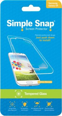 Simple Snap Screen Protector for Samsung Galaxy S4 Tempered Glass Transparent - Simple Snap Electronic Accessories