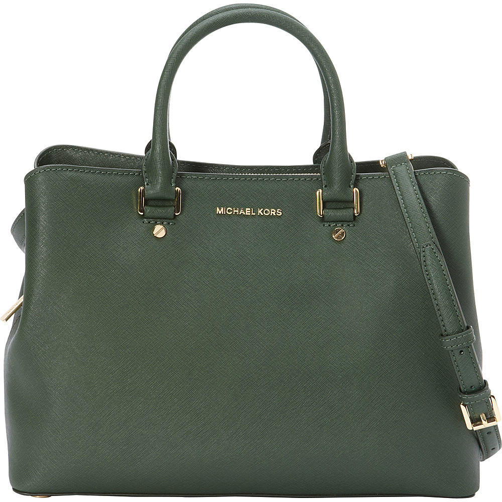 MICHAEL Michael Kors Savannah Large Satchel Retired Colors Moss MICHAEL Michael Kors Designer Handbags