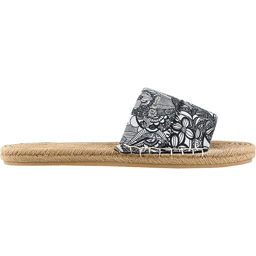 Sakroots Emi Slide Sandal 6 - Black & White Spirit Desert - Sakroots Womens Footwear - Apparel & Footwear, Women's Footwear