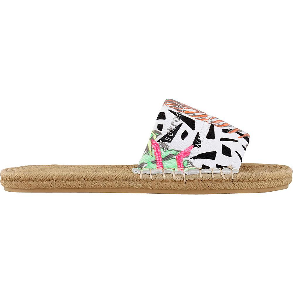 Sakroots Emi Slide Sandal 9 - Neon Wildlife - Sakroots Womens Footwear - Apparel & Footwear, Women's Footwear