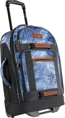 Original Penguin Luggage Casual 21 inch Carry-On Upright Rolling Duffel Bag Blue Palm Tree - Original Penguin Luggage Travel Duffels