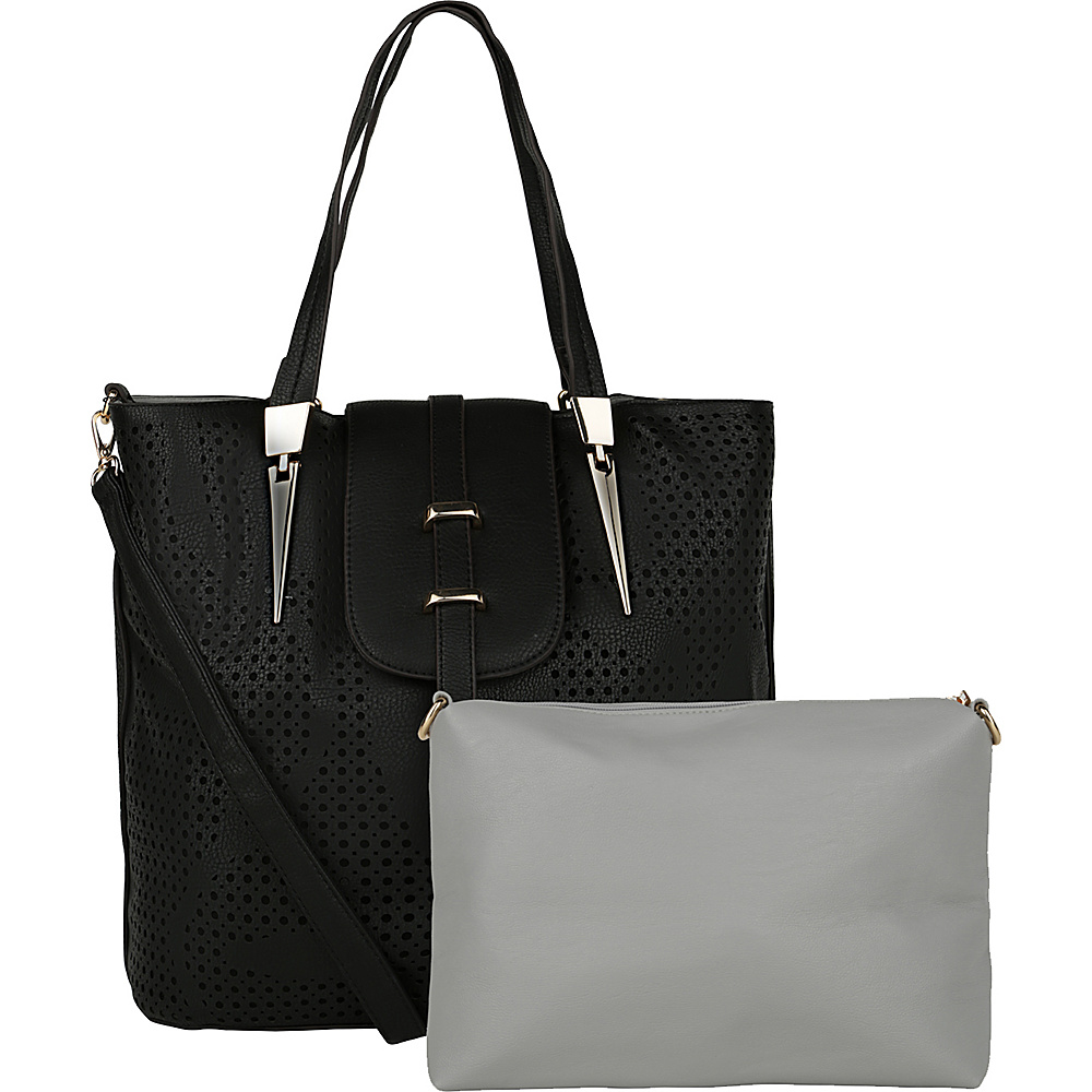 MKF Collection by Mia K. Farrow Elmo Handbag with Cosmetic Bag Black - MKF Collection by Mia K. Farrow Manmade Handbags - Handbags, Manmade Handbags