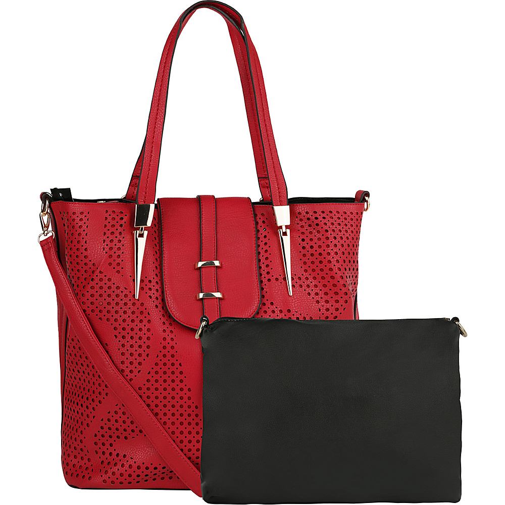 MKF Collection by Mia K. Farrow Elmo Handbag with Cosmetic Bag Red - MKF Collection by Mia K. Farrow Manmade Handbags - Handbags, Manmade Handbags