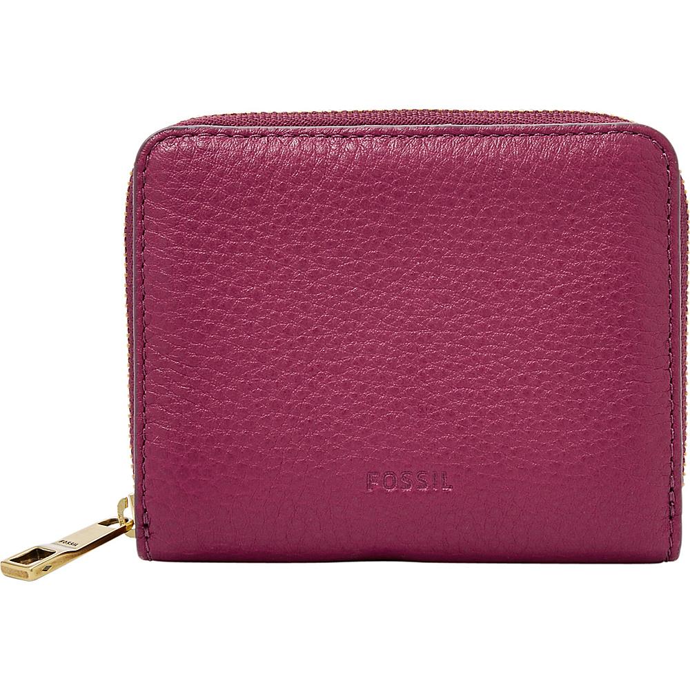 Fossil Emma RFID Mini Multifunction Raspberry Wine - Fossil Designer Handbags - Handbags, Designer Handbags