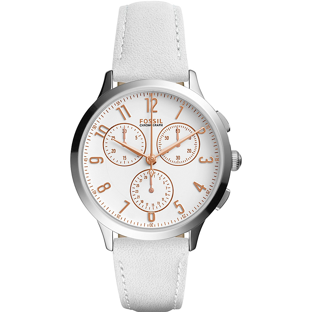 Fossil Abilene Sport Chronograph Watch White - Fossil Watches - Fashion Accessories, Watches