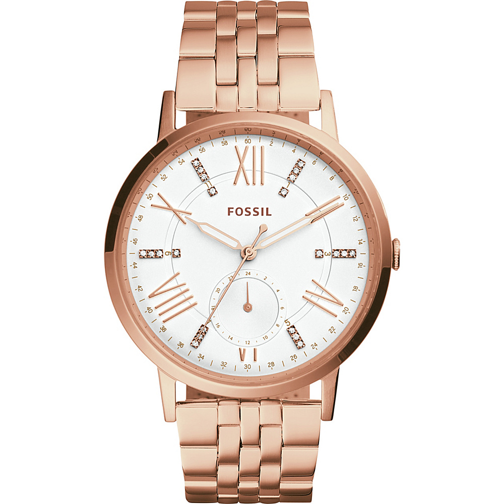 Fossil Gazer Multifunction Watch Rose Gold - Fossil Watches - Fashion Accessories, Watches