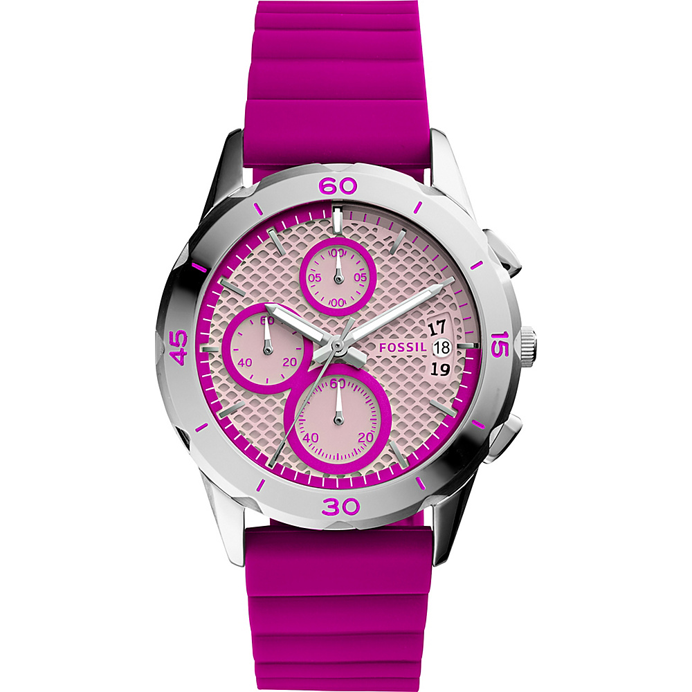 Fossil Modern Pursuit Sport Chronograph Watch Pink - Fossil Watches - Fashion Accessories, Watches