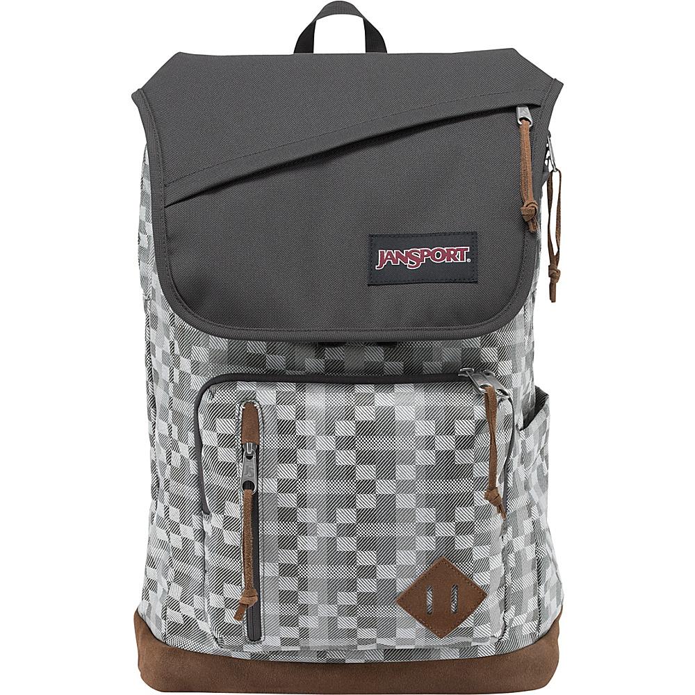 JanSport Hensley Backpack- Discontinued Colors Forge Grey Kente - JanSport Business & Laptop Backpacks - Backpacks, Business & Laptop Backpacks