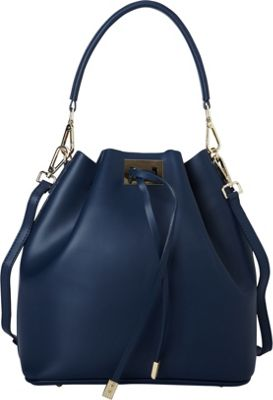 Sharo Leather Bags Italian Leather Satchel Tote Navy Blue - Sharo Leather Bags Leather Handbags