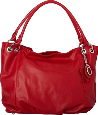 Sharo Leather Bags Italian Leather Tote and Shoulder Bag Red - Sharo Leather Bags Leather Handbags