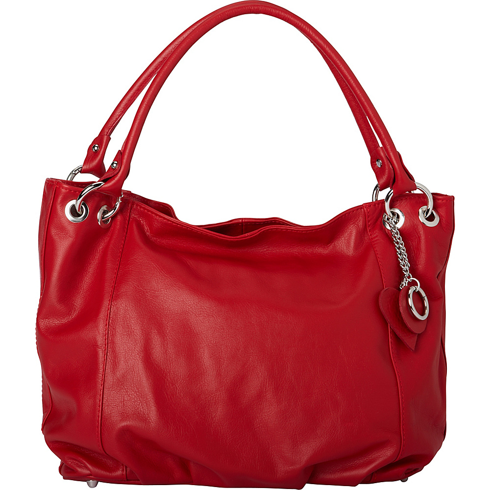 Sharo Leather Bags Italian Leather Tote And Shoulder Bag Red Sharo Leather Bags Leather Handbags