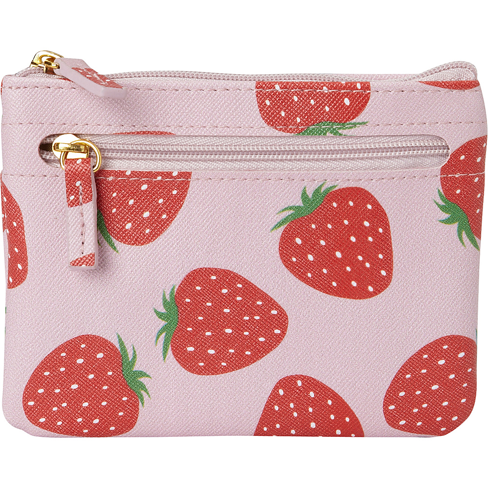 Buxton Fruit Punch Pik-Me-Up Large I.D. Coin / Card Case Sugar Coral - Buxton Womens Wallets - Women's SLG, Women's Wallets