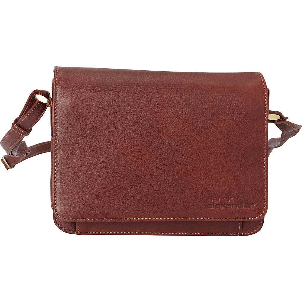 Derek Alexander EW 3/4 Flap Front Organizer Crossbody Whisky - Derek Alexander Leather Handbags - Handbags, Leather Handbags