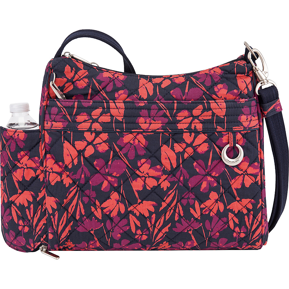 Travelon Anti-Theft Boho Square Crossbody Painted Floral - Travelon Fabric Handbags - Handbags, Fabric Handbags