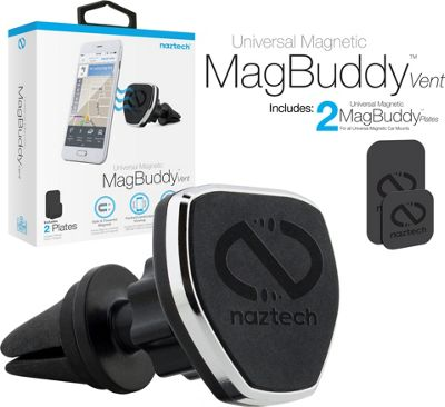 Naztech Naztech MagBuddy Air Vent Mount Black - Naztech Trunk and Transport Organization