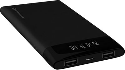 HyperGear 20000mAh Universal Dual USB Portable LED Power Bank Charcoal - HyperGear Portable Batteries & Chargers