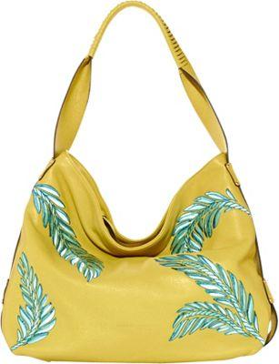 Aimee Kestenberg Handbags Havana Large Hobo Blazing Yellow - Aimee Kestenberg Handbags Leather Handbags