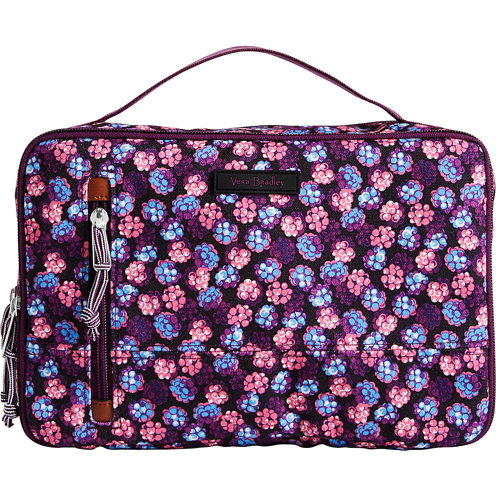 Vera Bradley Lighten Up Large Blush & Brush Case Berry Burst - Vera Bradley Toiletry Kits - Travel Accessories, Toiletry Kits