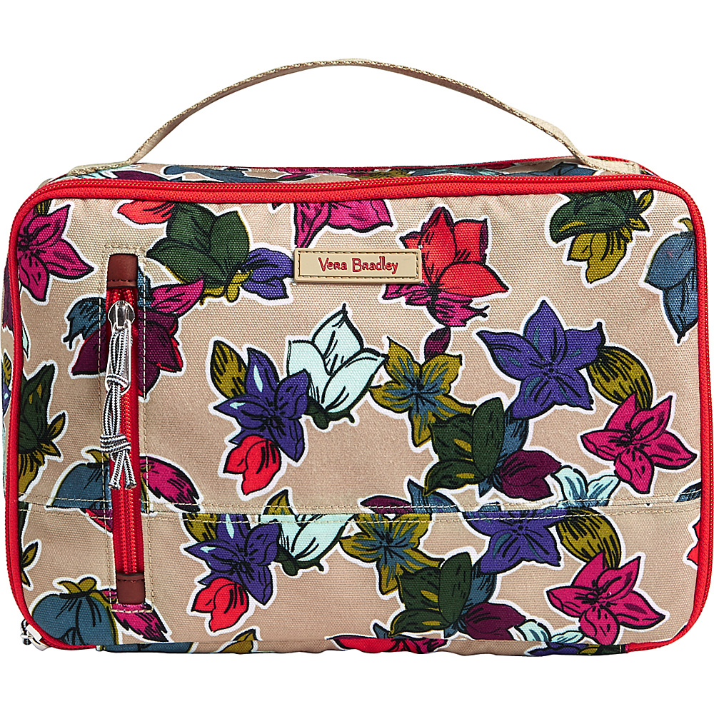 Vera Bradley Lighten Up Large Blush & Brush Case Falling Flowers Neutral - Vera Bradley Toiletry Kits - Travel Accessories, Toiletry Kits