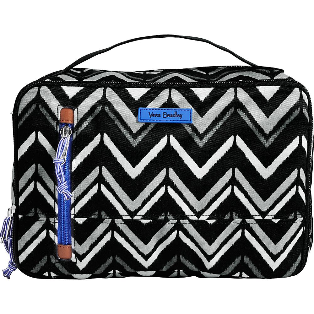 Vera Bradley Lighten Up Large Blush & Brush Case Lotus Chevron - Vera Bradley Toiletry Kits - Travel Accessories, Toiletry Kits