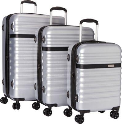 Bugatti Corium 3 Piece Hardside Luggage Set Silver - Bugatti Luggage Sets
