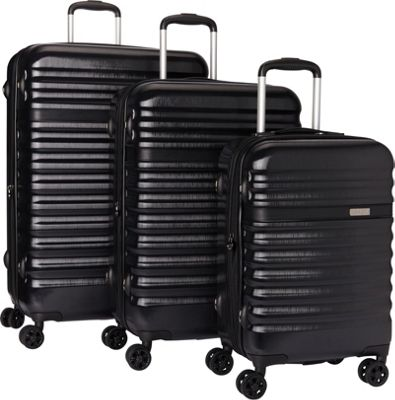 Bugatti Corium 3 Piece Hardside Luggage Set Black - Bugatti Luggage Sets