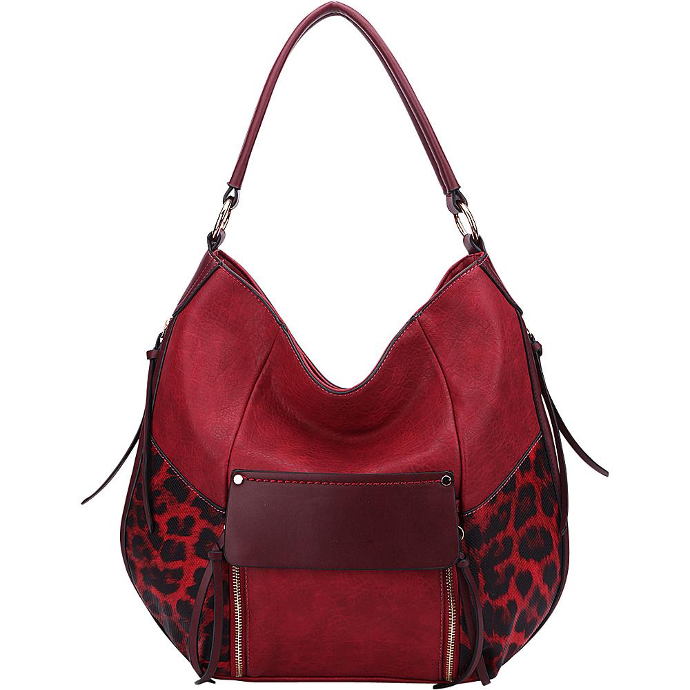 MKF Collection by Mia K. Farrow Shana Hobo Burgundy - MKF Collection by Mia K. Farrow Manmade Handbags - Handbags, Manmade Handbags