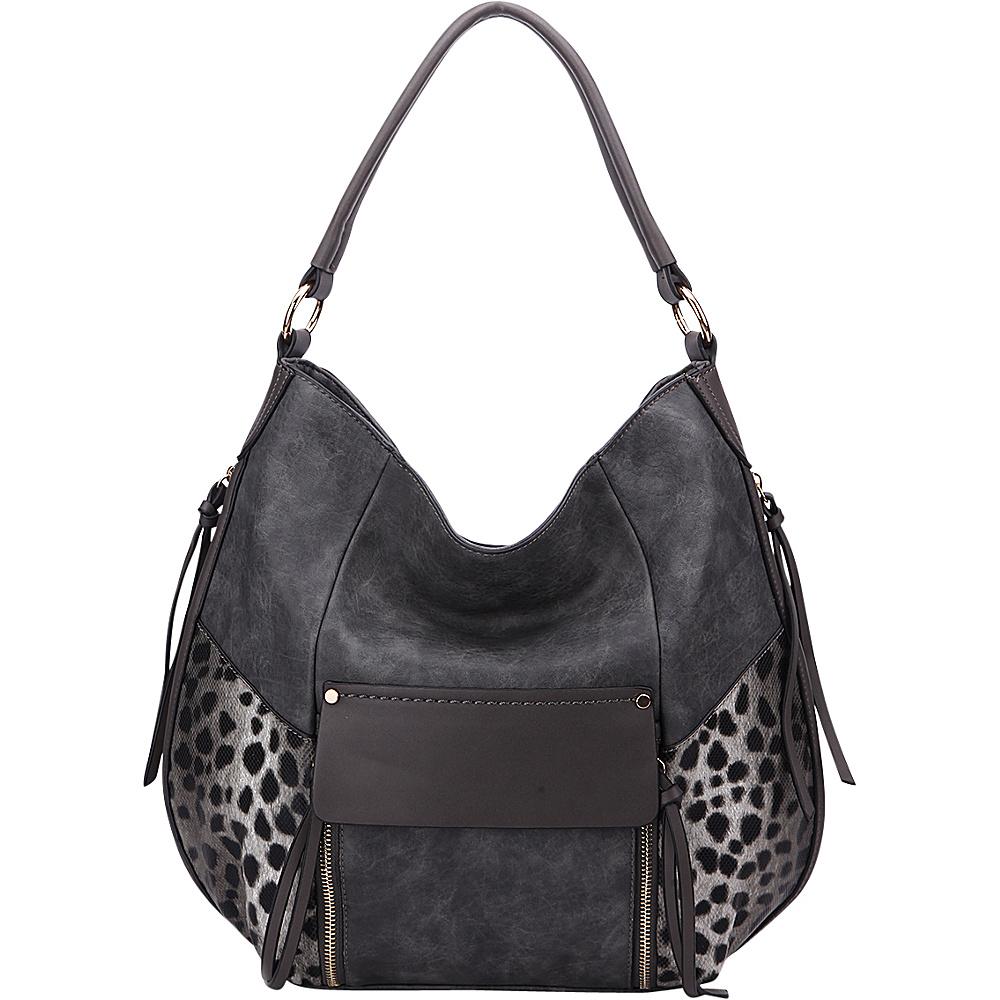 MKF Collection by Mia K. Farrow Shana Hobo Dark Grey - MKF Collection by Mia K. Farrow Manmade Handbags - Handbags, Manmade Handbags