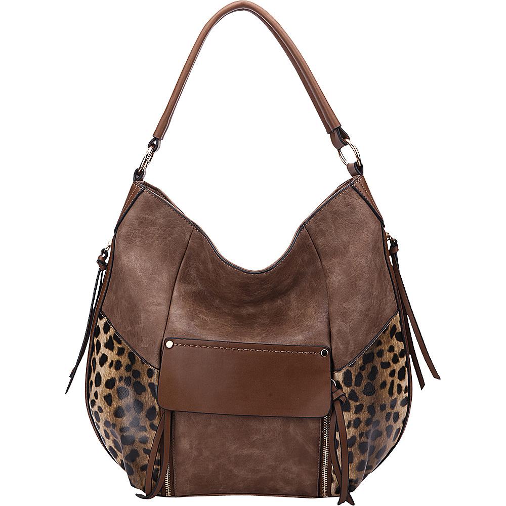 MKF Collection by Mia K. Farrow Shana Hobo Khaki - MKF Collection by Mia K. Farrow Manmade Handbags - Handbags, Manmade Handbags