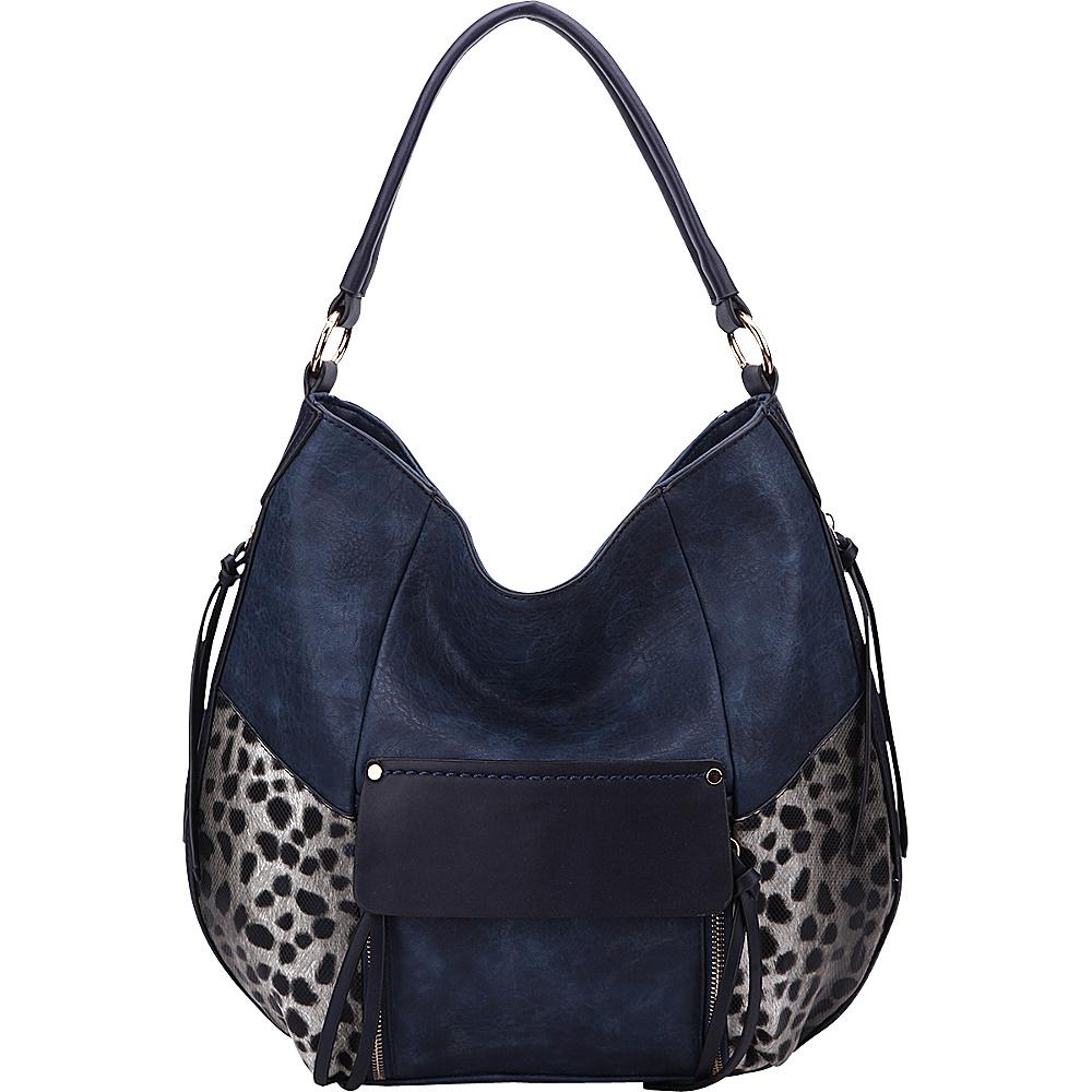 MKF Collection by Mia K. Farrow Shana Hobo Navy - MKF Collection by Mia K. Farrow Manmade Handbags - Handbags, Manmade Handbags