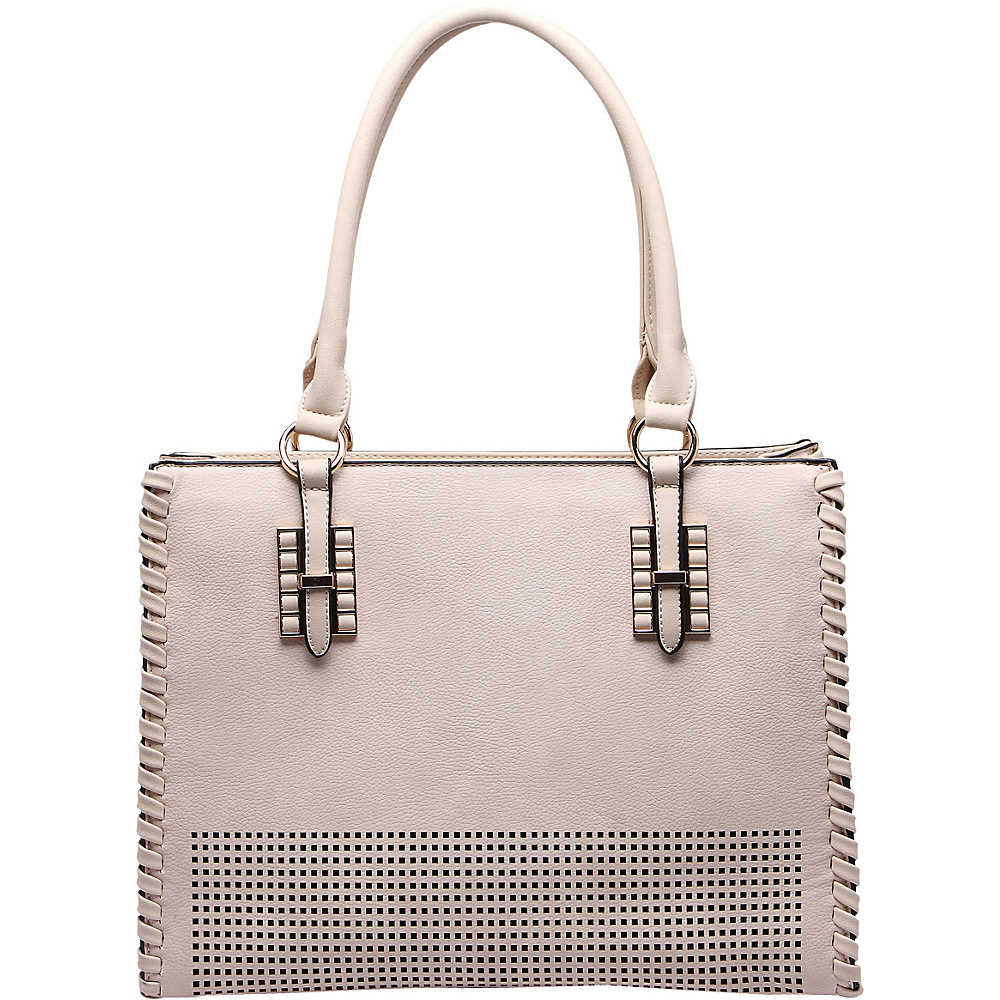 MKF Collection Layla Satchel Beige - MKF Collection Manmade Handbags - Handbags, Manmade Handbags