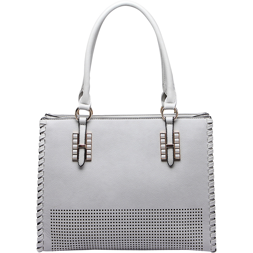 MKF Collection Layla Satchel Grey - MKF Collection Manmade Handbags - Handbags, Manmade Handbags