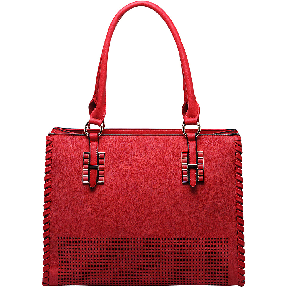 MKF Collection Layla Satchel Red - MKF Collection Manmade Handbags - Handbags, Manmade Handbags