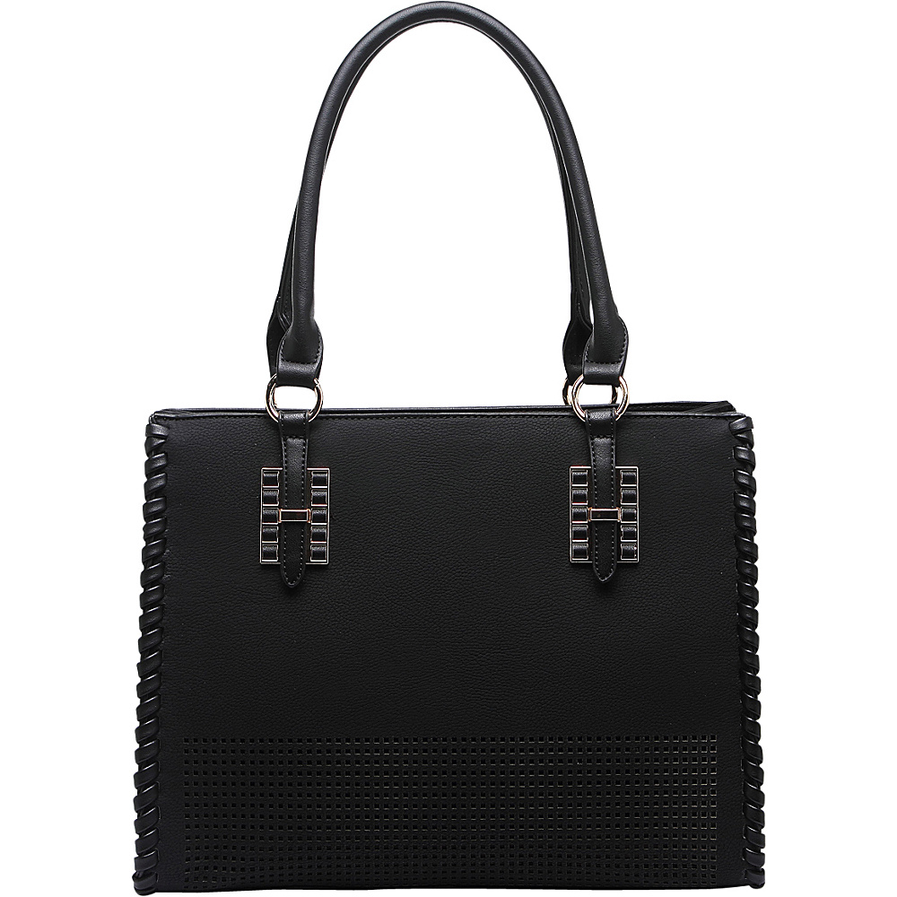 MKF Collection Layla Satchel Black - MKF Collection Manmade Handbags - Handbags, Manmade Handbags