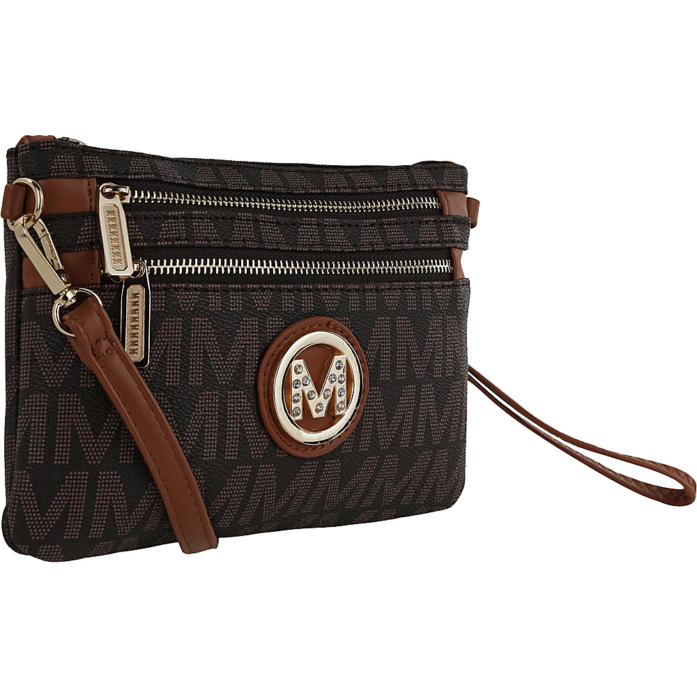 MKF Collection by Mia K. Farrow Geneve M Signature Crossbody & Wristlet Brown - MKF Collection by Mia K. Farrow Manmade Handbags - Handbags, Manmade Handbags
