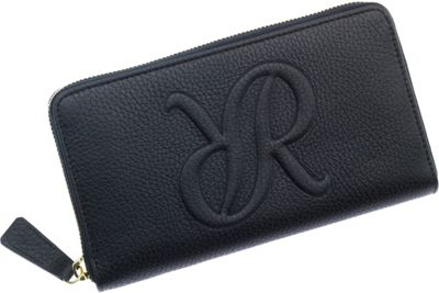 Rapport London Continental Leather Wallet Black - Rapport London Women's Wallets